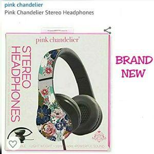 Accessories - NEW PINK CHANDELIER STEREO PHONE HEADPHONES